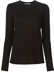 Alexander Wang Long Sleeve T Shirt Black