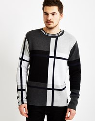 Only And Sons Mens Stripe Jumper Grey