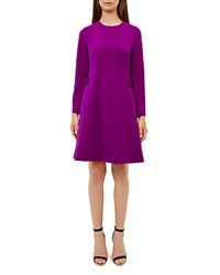 Ted Baker Emorly Bow Detail Dress Purple