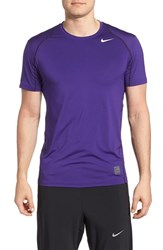 Men's Nike 'Pro Cool Compression' Fitted Dri Fit T Shirt Court Purple Purple White