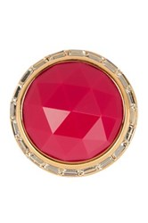 Trina Turk Domed Stone Bezel Set Crystal Ring Pink