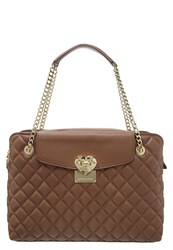 Love Moschino Work Handbag Camel