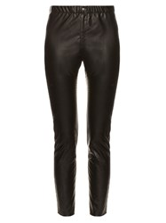 Etoile Isabel Marant Jeffery Faux Leather Leggings Black