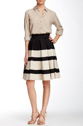 Amanda And Chelsea Colorblock Circle Skirt Black