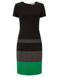 Boss Logo Boss Colour Block Trim Dress Black