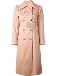 Celine Vintage Trench Coat Pink And Purple