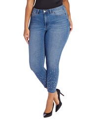Addition Elle Love And Legend Skinny Fit Embellished Jeans Blue