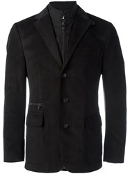 Corneliani Zipped Inset Blazer Brown
