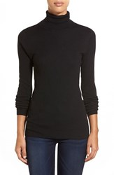 Petite Women's Halogen Long Sleeve Ribbed Turtleneck
