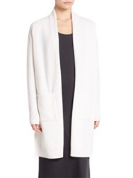 Vince Side Slit Cardigan Off White Black