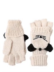 Karl Lagerfeld Choupette Wool Knit Gloves