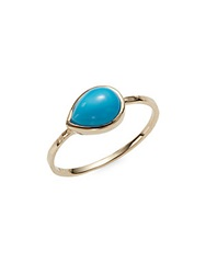 Anzie Classique Turquoise And 14K Yellow Gold Ring Gold Turquoise