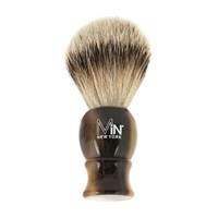 Min New York Silvertip Shave Brush Horn