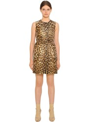 Red Valentino Leopard Cotton Blend Jacquard Dress