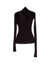 Plein Sud Jeanius Turtlenecks Dark Brown