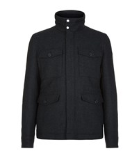 Boss Orange Ohawke Wool Blend Field Jacket Male Dark Grey