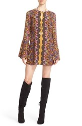 Free People Women's 'Ossie Vibes' Bell Sleeve Tunic Gold