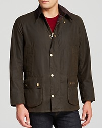 Barbour Ashby Tailored Waxed Cotton Coat Olive