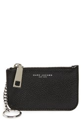 Women's Marc Jacobs 'Gotham' Pebbled Leather Key Pouch
