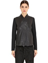 Transit Par Such Patchwork Leather Jacket