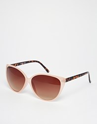Warehouse Contrast Cateye Sunglasses Tort