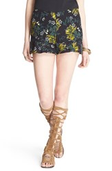 Women's Free People 'Fiona' Floral Print High Rise Shorts Tropical Night Combo