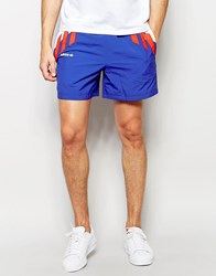 Adidas Originals Tricolour Retro Shorts Aj7336 Blue