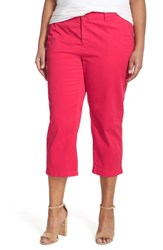 Plus Size Women's Sejour 'Addison' Stretch Crop Pants Red Barberry