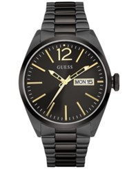 Guess Men's Black Ion Plated Stainless Steel Bracelet 44Mm U0657g2