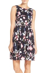 Women's Adrianna Papell Floral Print Fit And Flare Dress