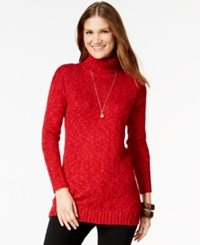 American Living Marled Turtleneck Sweater Only At Macy's Rich Red