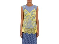 Altuzarra Women's Sonora Chiffon And Lace Tank Top Blue