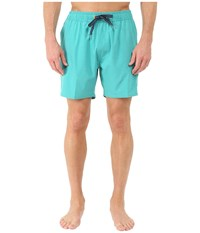 Sperry Invisible Critter Solids Volley Shorts Lagoon Men's Swimwear Blue
