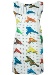 Jeremy Scott Watergun Print Fitted Dress White