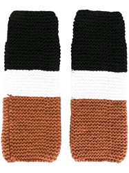 Telfar Fingerless Gloves Black