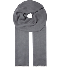 Sandro Modal And Cashmere Stole Light Grey