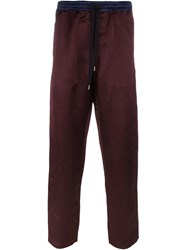 Andrea Pompilio Drawstring Trousers Red