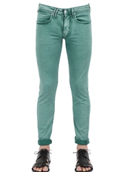 Cycle Colored Stretch Cotton Trousers Green