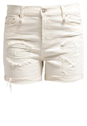 Ltb Milena Denim Shorts Cream White Denim