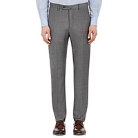 Incotex Men's B Body Classic Fit Wool Trousers Grey