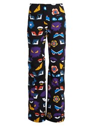 Fendi Wonders Eye Print Ski Trousers Black Print