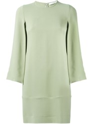 Givenchy Slit Sleeve Shift Dress Green