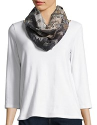 Lord And Taylor Floral Loop Scarf Ivory