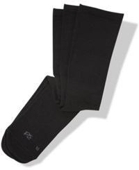 Perry Ellis Men's Socks Dress 3 Pack C Fit Perfect Comfort Black