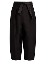 Elizabeth And James Anderson Silk Wool Blend Cocoon Trousers Black