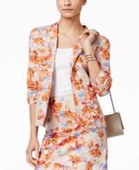 Ny Collection Linen Floral Print Jacket Floral Print