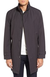 Michael Kors Men's Big And Tall Stretch Rain Coat Charcoal