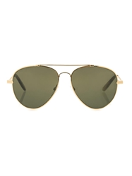 Bottega Veneta Eteched Intrecciato Aviator Style Sunglasses
