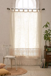 Plum And Bow Delilah Crochet Curtain Ivory