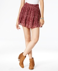 Lucky Brand Printed Mini Skirt Red Multi